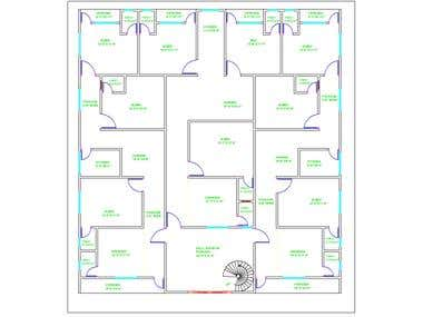Autocad 2d plan drawing
