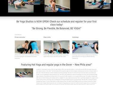 Yoga website custom build   http://www.beyogastudios.com/