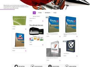 Ecommerce website for selling software http://software4less.