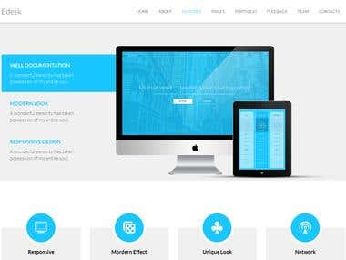 Edesk HTML5 Landing Page