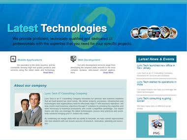 Website design and developlent company website.