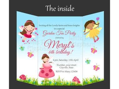 Trifold invitations / brochures