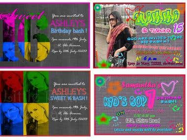 Graffitti style invitations