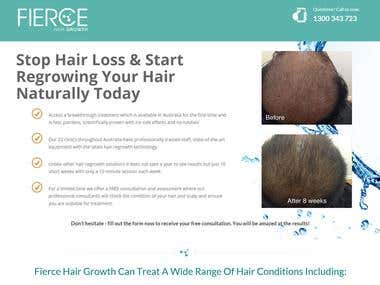 Fierce Hair Growth Landing Page Rewrite