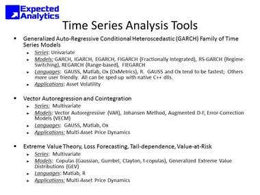 Time Series Analysis Tools