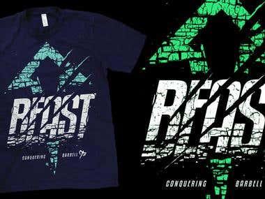 Beast up shirt design