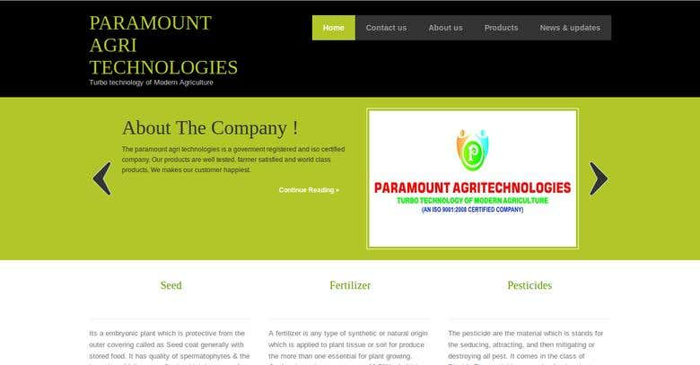 Paramount agri technologies | Freelancer
