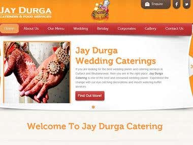 Web Site Project For Jay Durga Catering