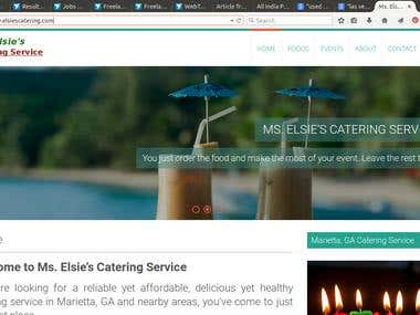WordPress Website for a Small Catering Service : Turnkey Job