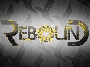 Rebound trampoline park logo design