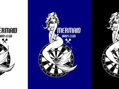 Mermaid darts club logo