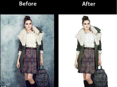 Retouch Photo - Clear Background