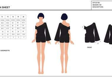 Fashion Specification sheets