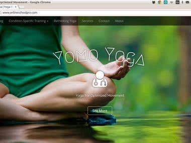 Yomo Yoga website