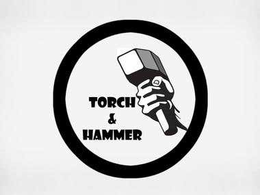 Torch and Hammer Logo Design
