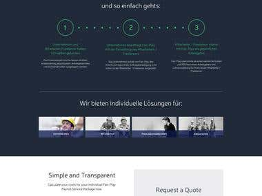 Website MockUp for a Company based in German