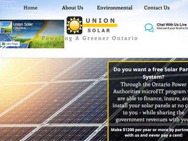 Marketing for Union Solar CANADA