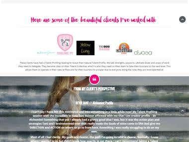 Personal Website Design - http://tanibeister.com.au/