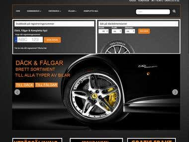 Webshop for tires & rims