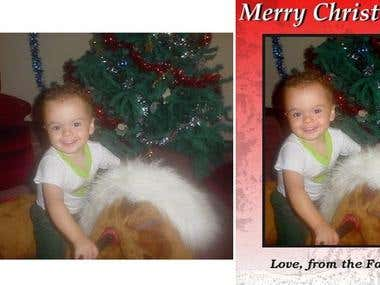 E-Card Personalized Merry Christmas