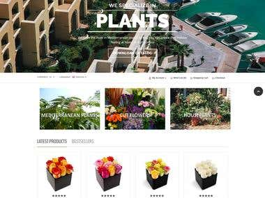 Web shop for plants