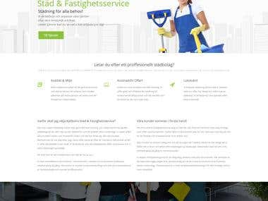 Website for cleaning company