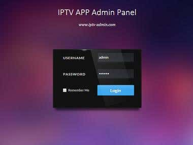 IPTV Admin Panel