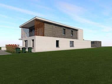 Modern House Fasade