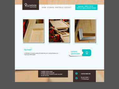 Joomla 3 template design for a woodworks design company.