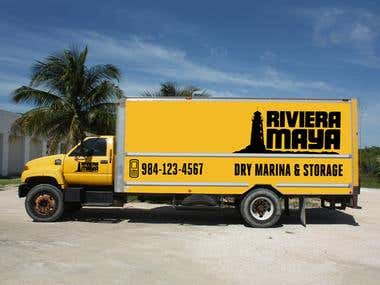 Riviera Maya Truck Signage Design