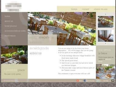 A boutique hotel website
