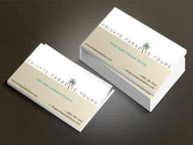 Business Cards Private Paradise Tours
