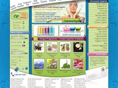 Personal Care E-Commerce Site Design