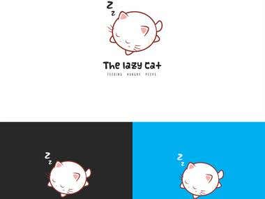 Logo design: The lazy cat.
