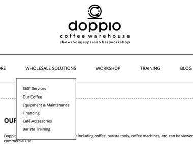 Doppio Coffee Ltd. Information Architecture