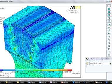 FEA Thermo-stressed state of the turbine aircraft
