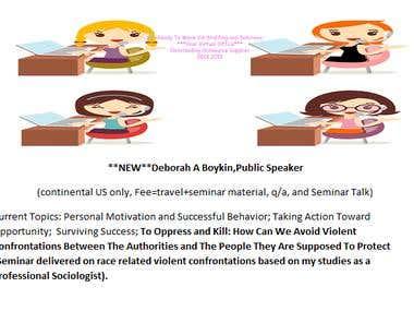 RTW Public Speaking Engagements