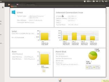 JavaFX System Monitoring