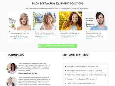 Shopify Design for Salon Site
