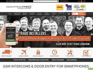 CONTROL FREQ LTD - ECOMMERCE WEB DESIGN