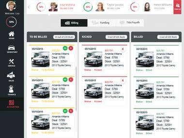 Design a Website Mockup for Deal Flow Management