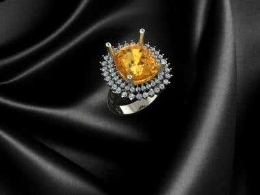 Diamond Gem Rings