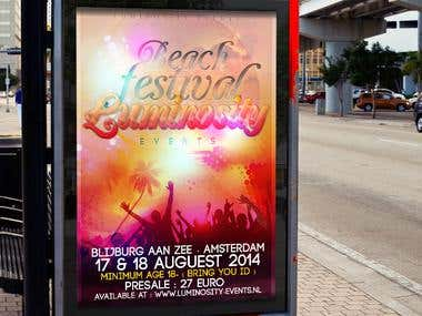 Luminosity Beach Event Flyer