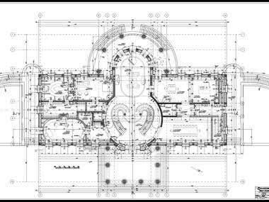 Architecture -Floor Plan & Section (Autocad)