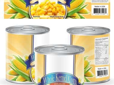 sample of can for sweet corn