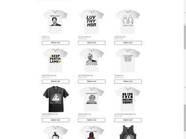 Make a shop to match tumbler page look