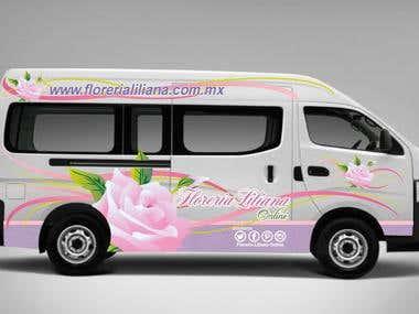 Sample of van for flower shop