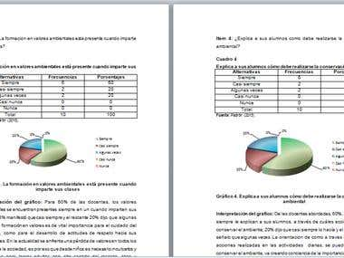 Presentación de datos y análisis de resultados