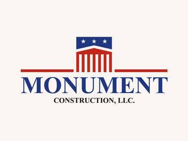 Logo for Monument Construction.