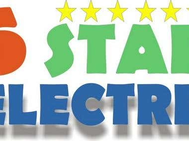 A logo for company name \\\'six star electric\\\'.